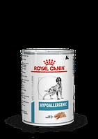 Royal Canin Hypoallergenic,ветеринарный влажный корм при пищевой аллергии, банка 400гр.