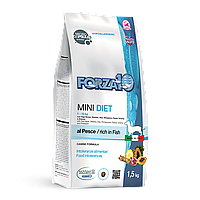 Forza10 Diet Mini Pesce,сухой диетический корм для собак мелких пород с рыбой,уп.1,5 кг.