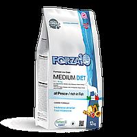 Forza10 Diet Medium Pesce,сухой диетический корм для собак средних пород с рыбой,уп.12 кг.