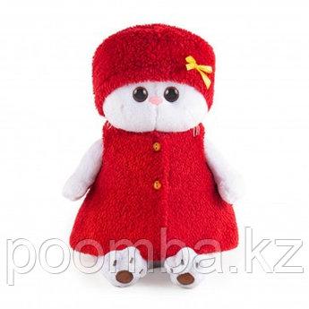 """Мягкая игрушка """"Кошечка Ли-Ли в красной безрукавке и шапочке"""""""