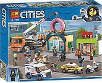 Конструктор Аналог лего сити Lego City 60233 Lari 11392 Открытие магазина по продаже пончиков