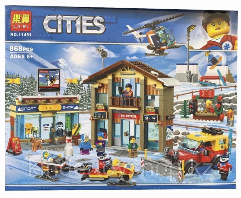 Конструктор Аналог лего сити Lego City 60203, Lari 11451 Горнолыжный курорт «Ski Resort»