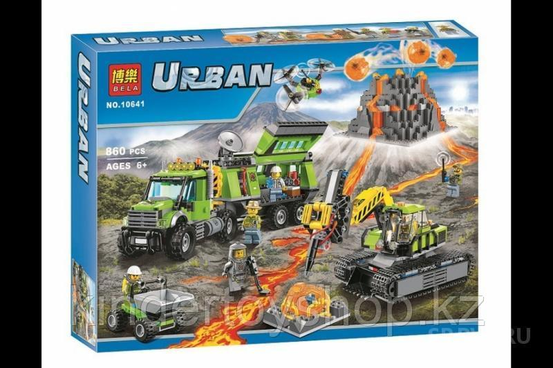 Конструктор аналог лего сити Bela City База исследователей вулканов 10641 (Аналог Lego City 60124) 860 дет