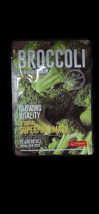 Dermal Питательная маска для лица на основе экстракта зеленого броккоIt's Real Superfood Broccoli Facial Mask