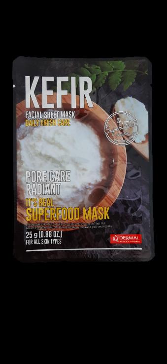 Dermal Питательная маска для лица на основе кефира It's Real Superfood Kefir Facial Mask