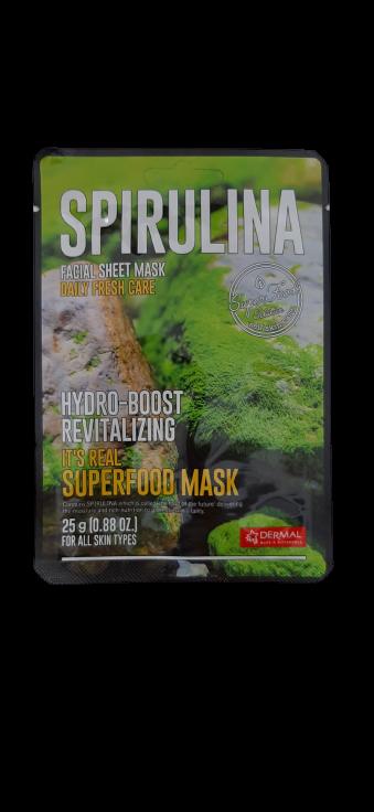 Dermal Питательная маска на основе экстракта водорослей спирулина It's Real Superfood Spirulina Facial Mask