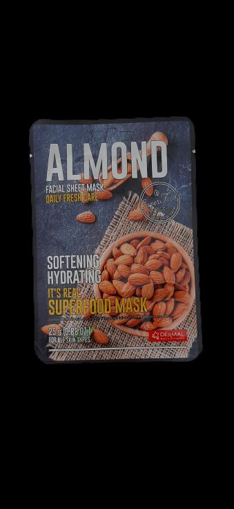 Dermal Питательная маска для лица на основе экстракта миндального ореха It's Real Superfood Almond Facial Mask