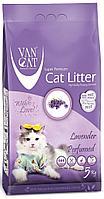 Van Cat Lavender,комкующийся наполнитель c лавандой для кошек,уп.10кг.