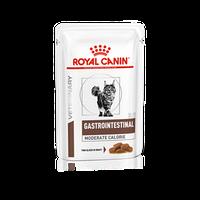 Royal Canin Gastro Intestinal Moderate Calorie,ветеринарная диета для кошек при нарушении пищеварения,паучи