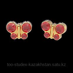 Гипоаллергенные серьги-бабочки для ношения