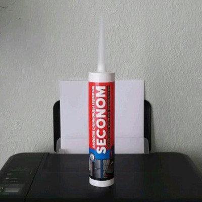 SECONOM герметик силиконовый универсальный (260мл) бесцветный, фото 2