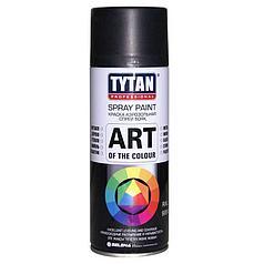 TYTAN Краска аэрозольная, черная матовая, 400 мл