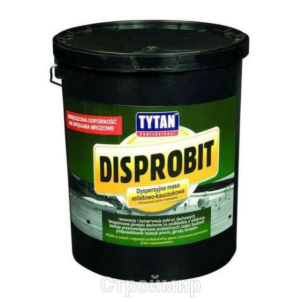 TYTAN DISPROBIT мастика дисперсионная битумно-каучуковая для ремонта крыш и гидроизоляции 10 кг
