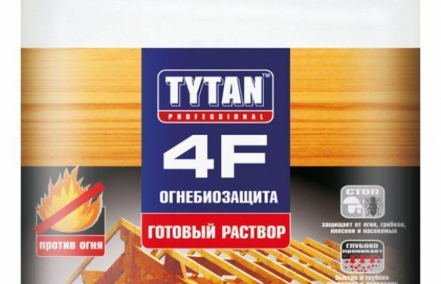 TYTAN 4F Огнебиозащита (готовый раствор), красный 10 л., фото 2