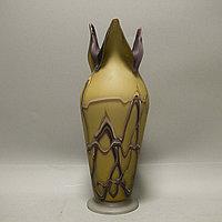 Парадная ваза ручной работы. Художественное стекло.