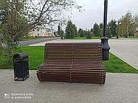 Скамейка уличная из массива