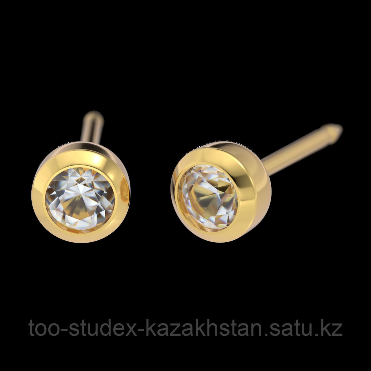 7511-0204 Серьги-иглы System75™ с цветными кристаллами