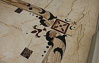 Каменный пол из мрамора, гранита