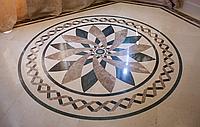 Художественный каменный пол из мрамора, гранита
