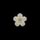 7511-6153 Серьги-иглы Цветочки System75™, фото 3