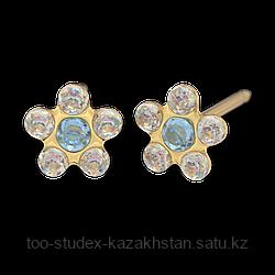 7511-6153 Серьги-иглы Цветочки System75™