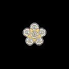 7511-6004 Серьги-иглы Цветочки System75™, фото 3