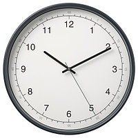 Настенные часы, ТАГГАД белый/серый 38 см ИКЕА, IKEA