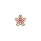 7511-6410 Серьги-иглы Цветочки System75™, фото 3