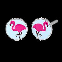 """7512-0665 Серьги для прокола STUDEX System75 """"Фламинго"""""""
