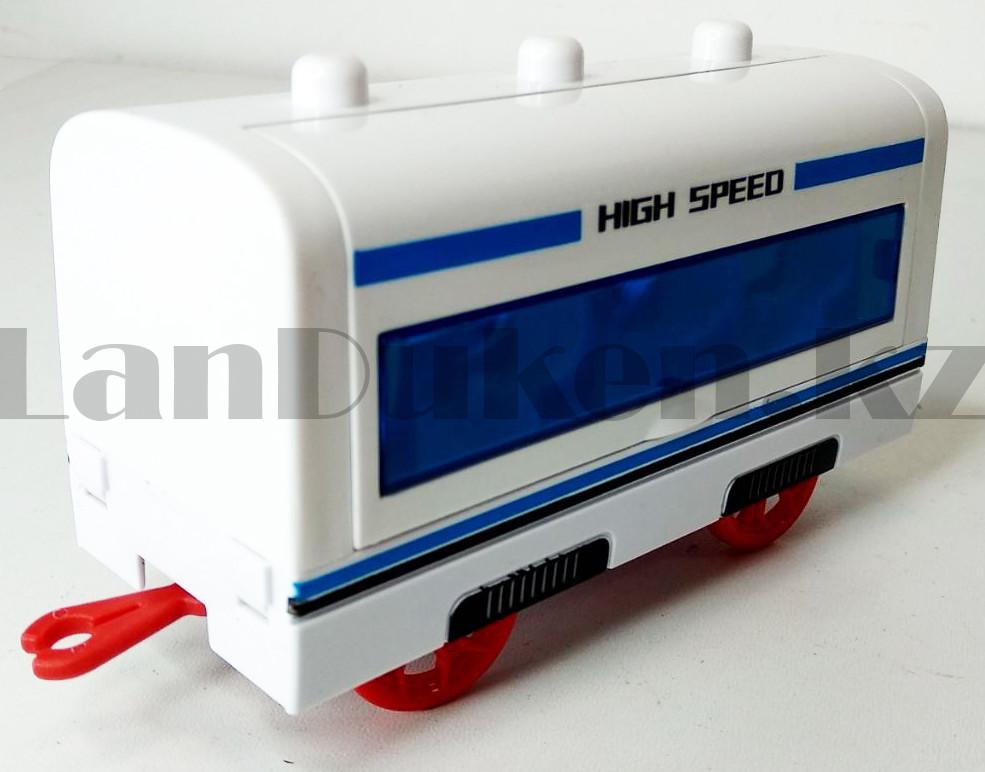 Игрушечный набор железная дорога и поезд со свето-звуковым сопровождением на 21 деталей Locomotive RailWay - фото 6