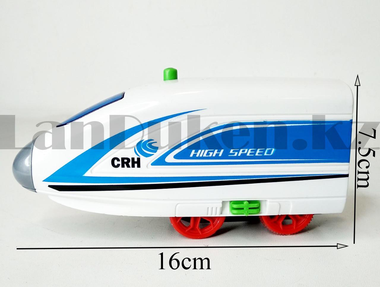 Игрушечный набор железная дорога и поезд со свето-звуковым сопровождением на 21 деталей Locomotive RailWay - фото 4