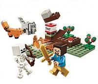 Конструктор Minecraft 80 деталей Приключения в тайге