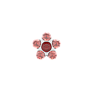 7512-6227 Серьги-иглы Цветочки System75™, фото 3