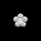 7512-6301 Серьги-иглы Цветочки System75™, фото 3