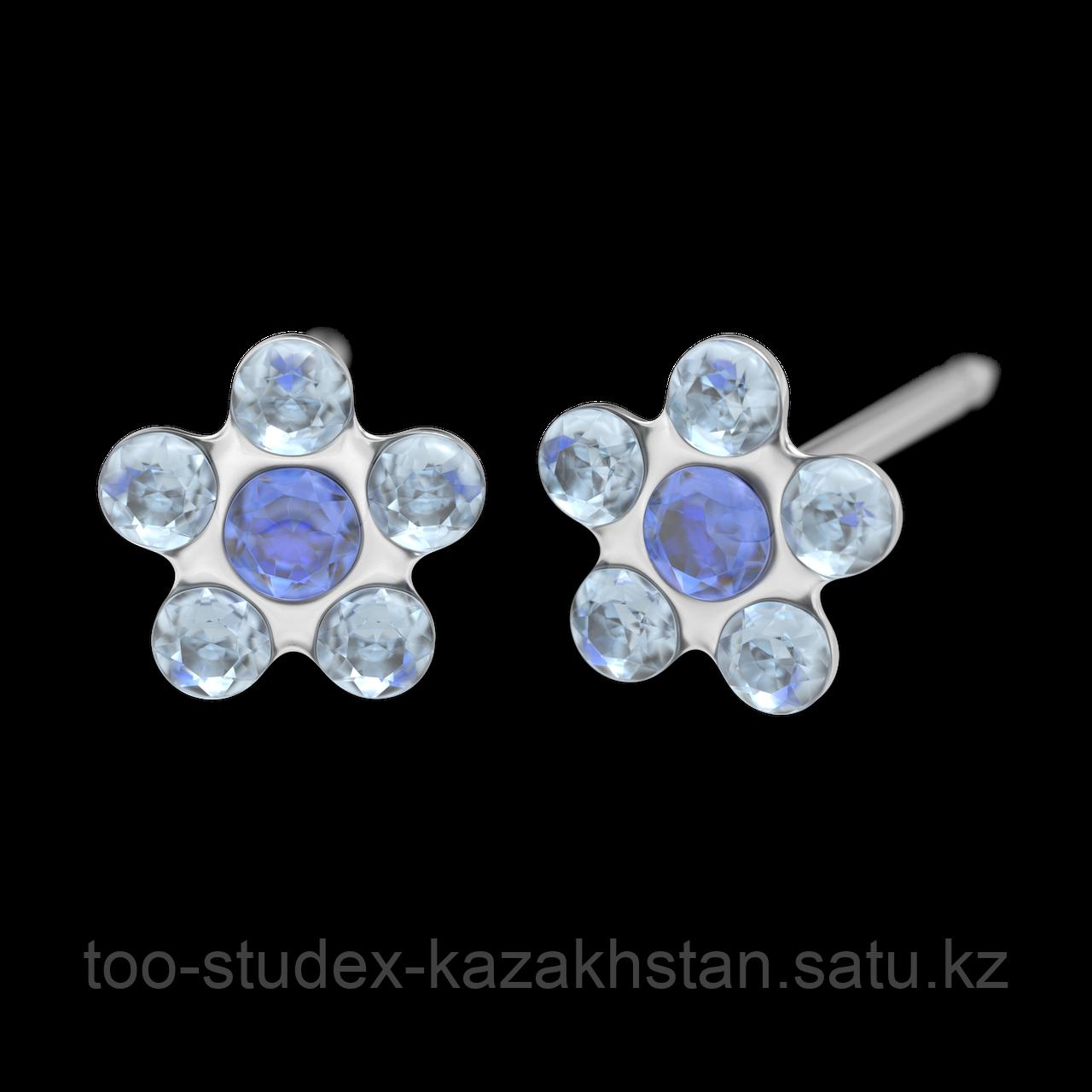 7512-6399 Серьги-иглы Цветочки System75™