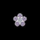 7512-6284 Серьги-иглы Цветочки System75™, фото 3