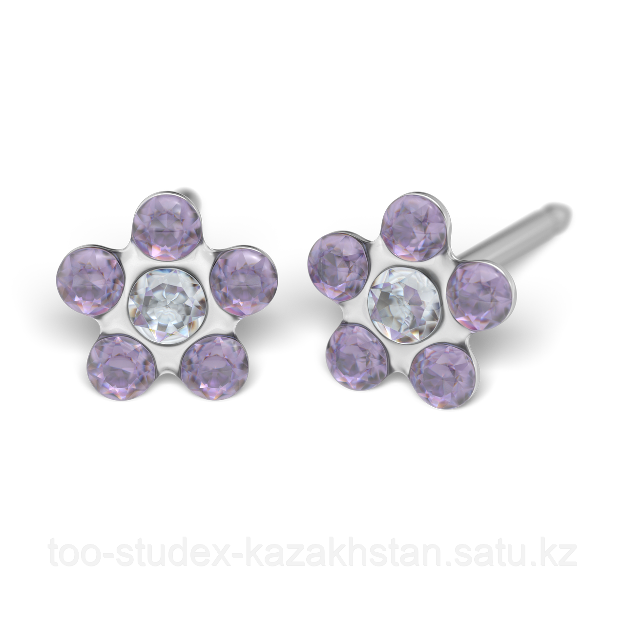 7512-6284 Серьги-иглы Цветочки System75™