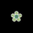 7512-6085 Серьги-иглы Цветочки System75™, фото 3