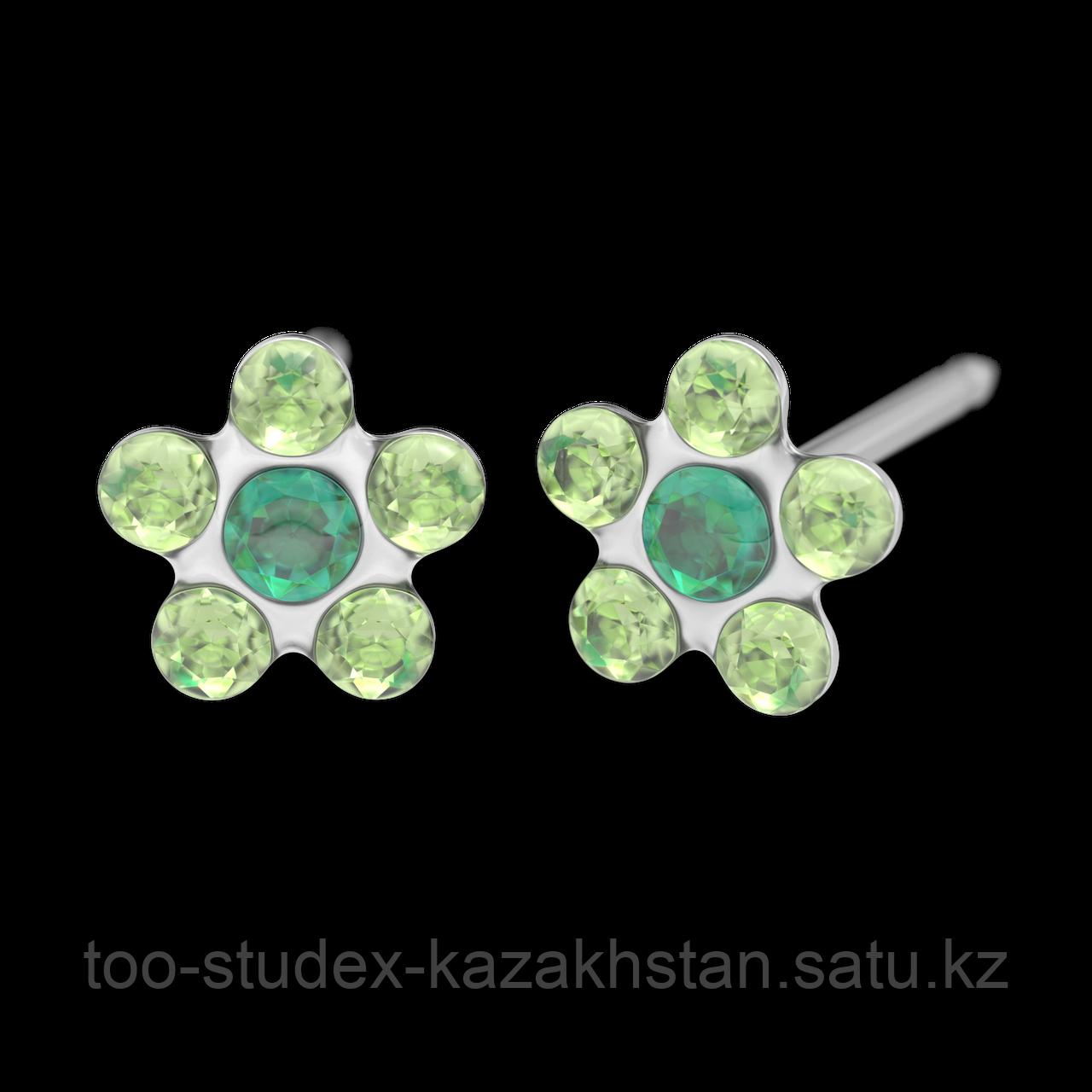 7512-6085 Серьги-иглы Цветочки System75™