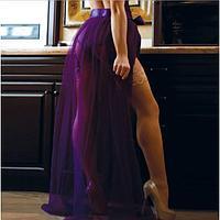 "Plus Size Dignity Purple Transparent Skirt R80272 арт-6823 """""