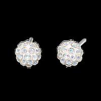 """7522-0315 Серьги-иглы System75 """"Fireball"""" с кристаллами"""