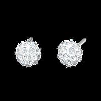 """7522-0304 Серьги-иглы System75 """"Fireball"""" с кристаллами"""