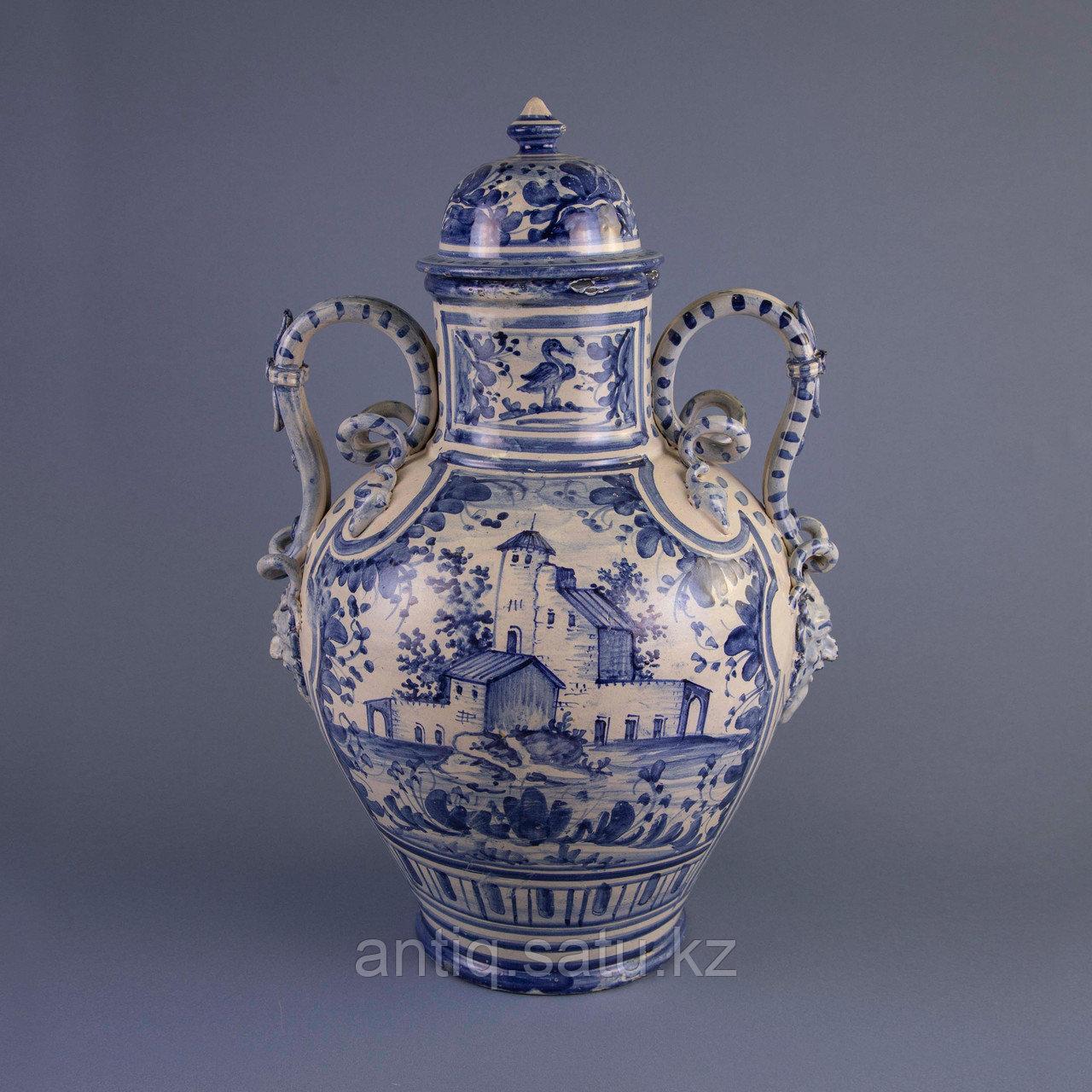 Парадная ваза. Королевская мануфактура в Дельфте - фото 1