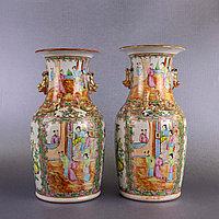 Парадные вазы Китай, Кантон. XIX век