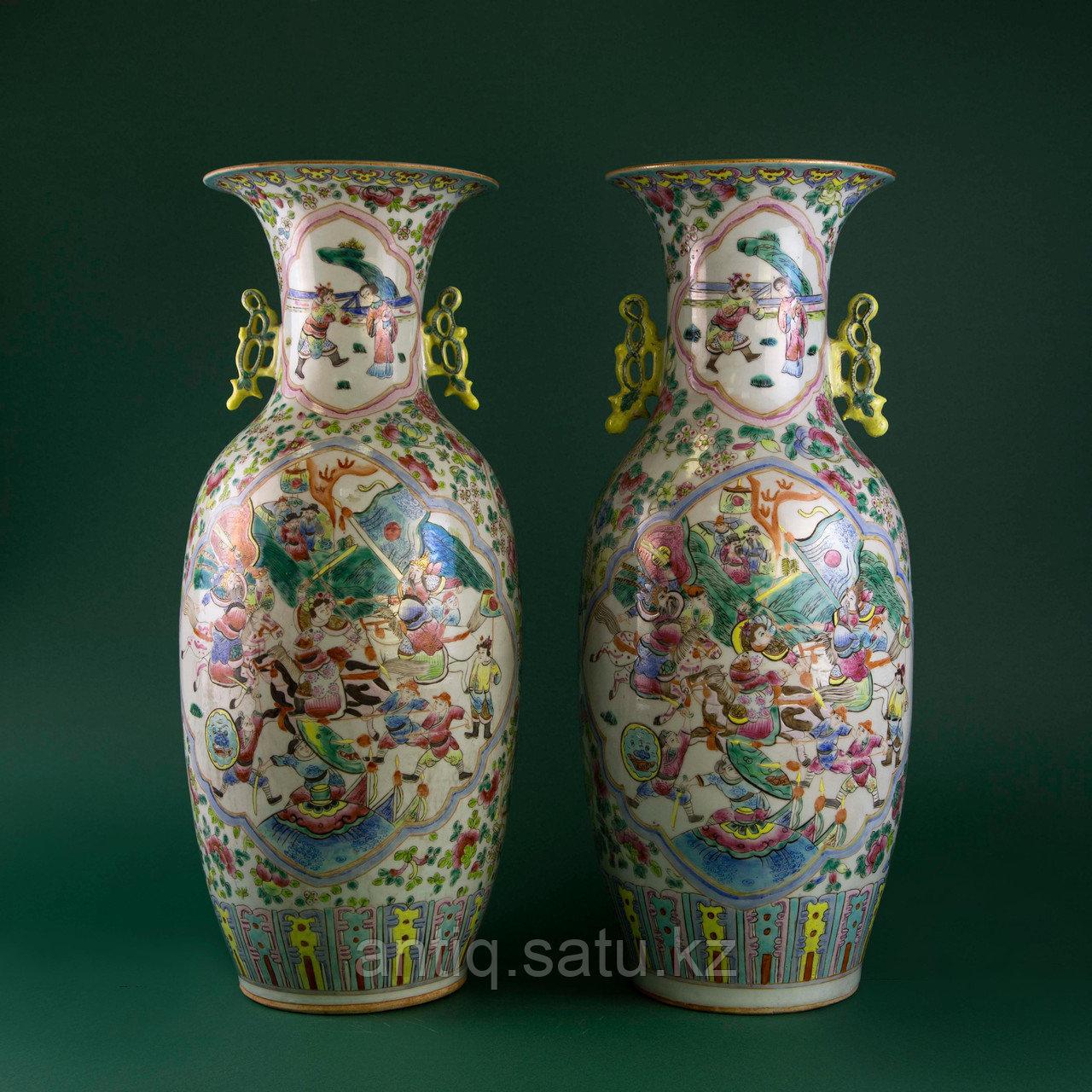 Парадные вазы. Китай. Начало ХХ века - фото 1