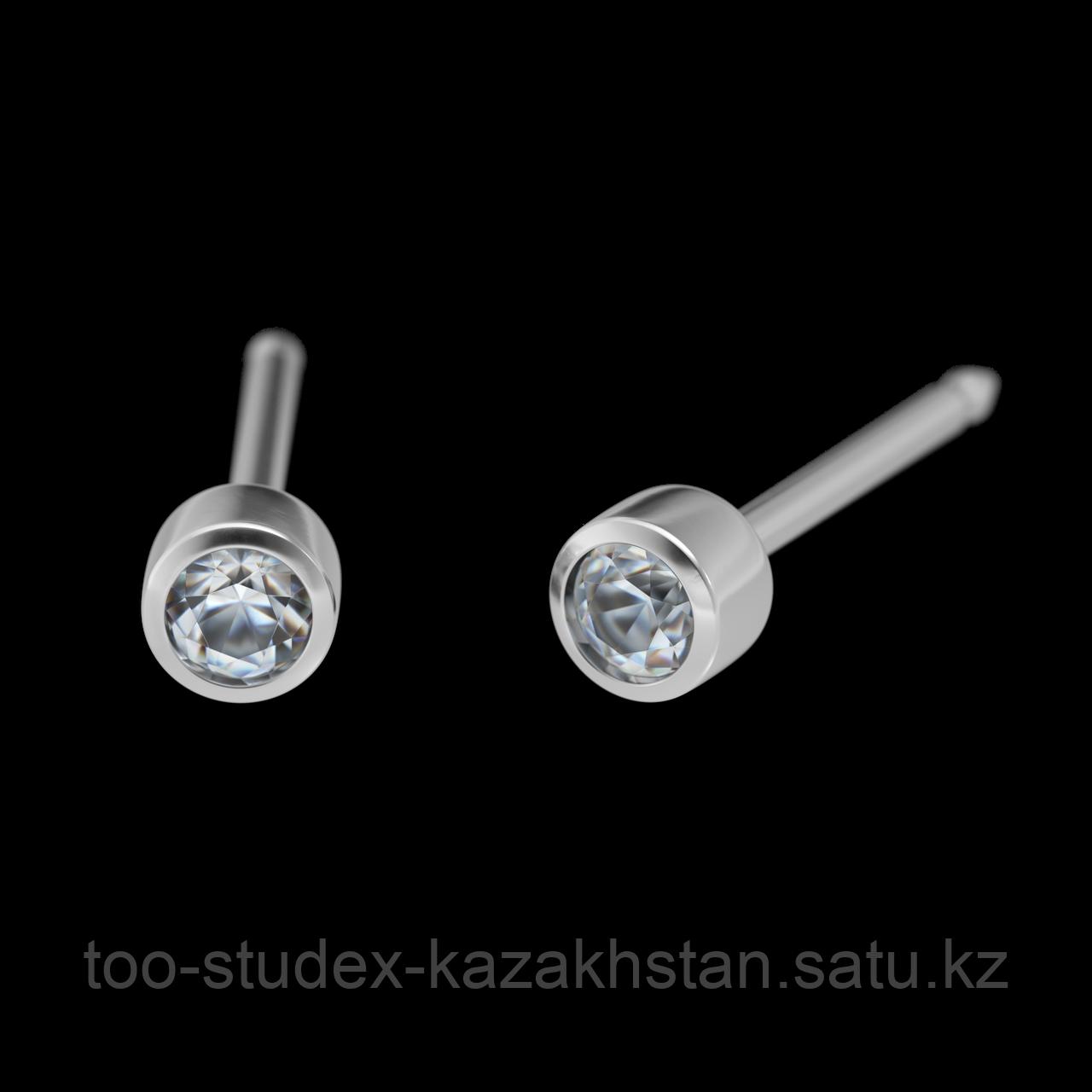 """7532-0204 Серьги-иглы System75™ с цветными кристаллами """"Хрусталь"""""""