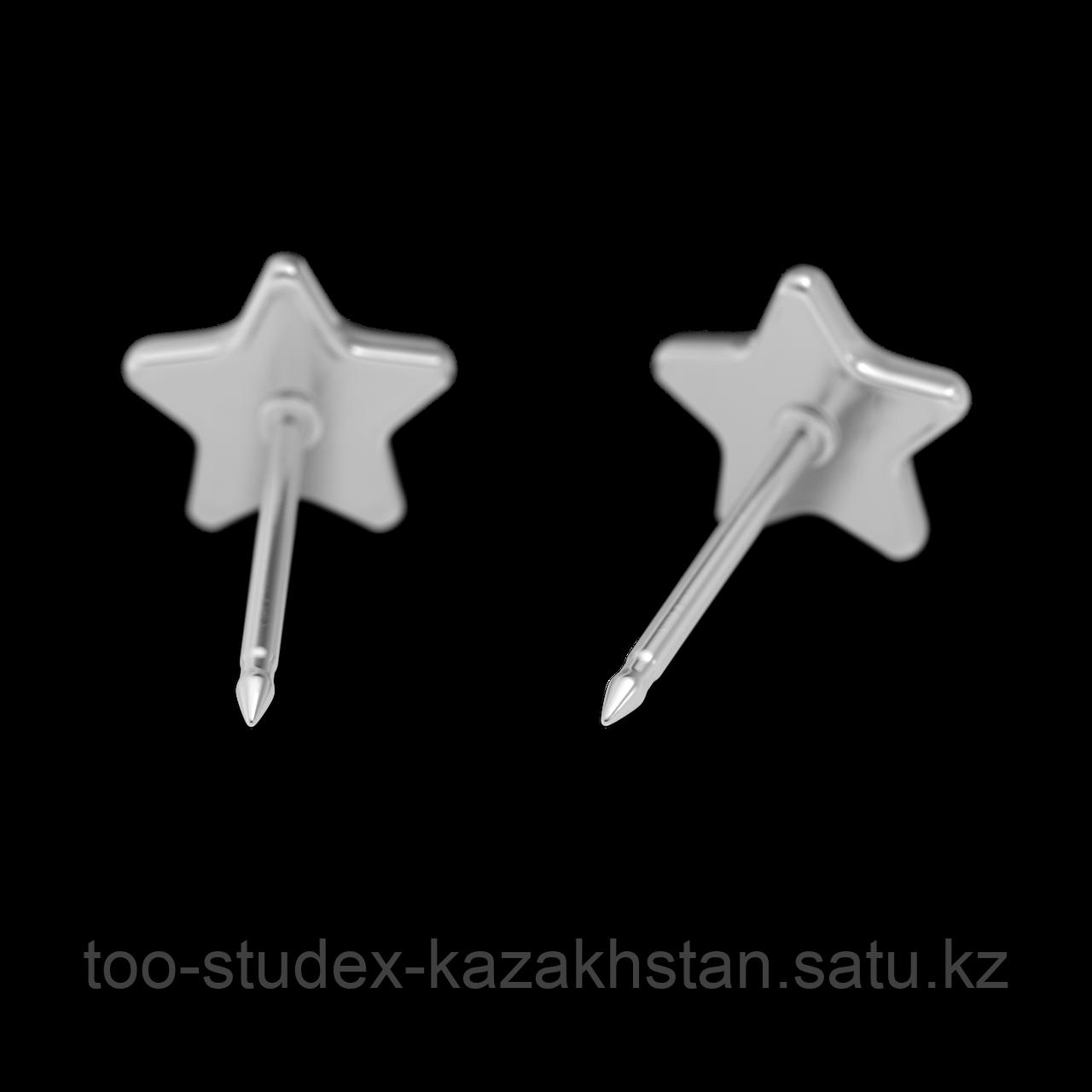 """Серьги для прокола STUDEX System75 """"Звезда"""" - фото 5"""