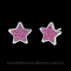 """7524-3542 Серьги для прокола STUDEX System75 """"Звезда"""""""