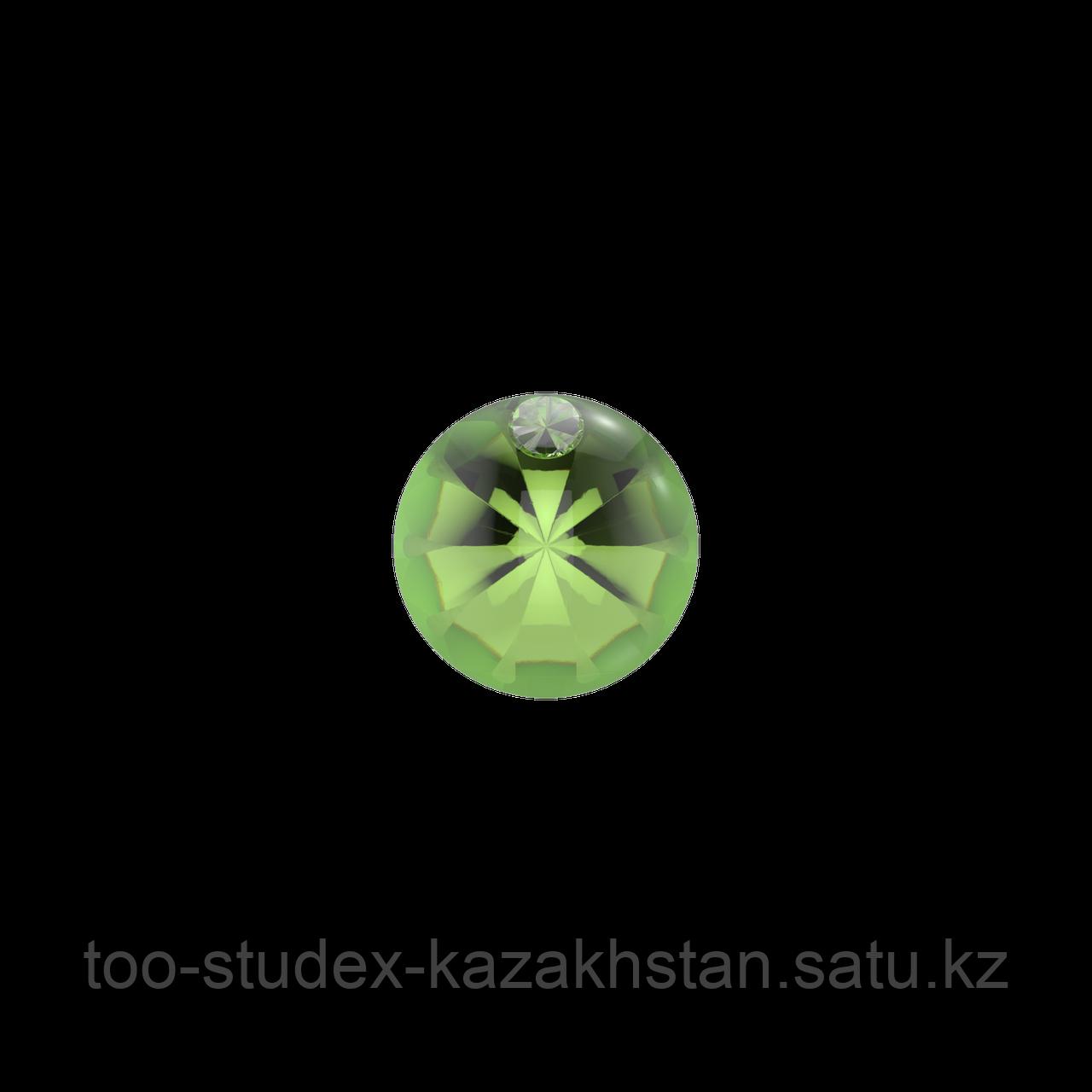 Серьги для прокола STUDEX System75 Зеленый кристалл с цирконом - фото 3