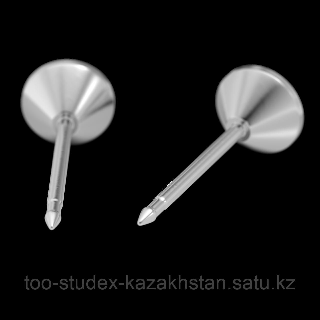 Серьги для прокола STUDEX System75 Зеленый кристалл с цирконом - фото 4